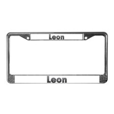 Leon Metal License Plate Frame