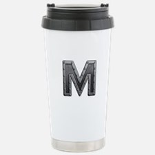 M Metal Stainless Steel Travel Mug