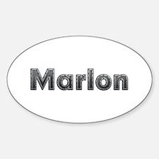 Marlon Metal Oval Decal