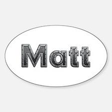 Matt Metal Oval Decal