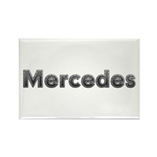 Mercedes Metal Rectangle Magnet