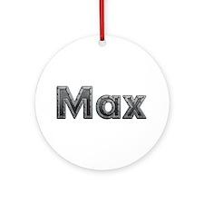 Max Metal Round Ornament