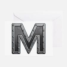 M Metal Greeting Card