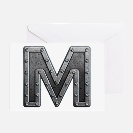 M Metal Greeting Card