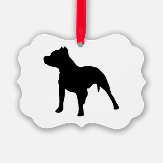 pitbull 2 Ornament