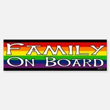 Family On Board Gay Bumper Car Car Sticker