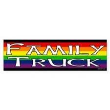 Family Truck Gay Pride Bumper Bumper Sticker