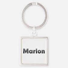 Marlon Metal Square Keychain