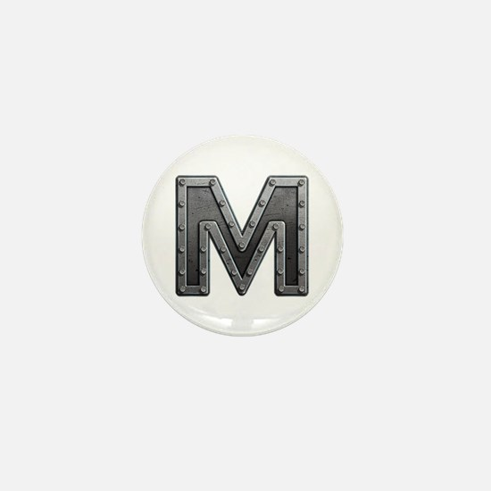 M Metal Mini Button