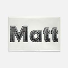 Matt Metal Rectangle Magnet 100 Pack