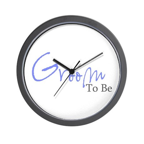 Groom To Be (Blue Script) Wall Clock