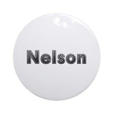 Nelson Metal Round Ornament