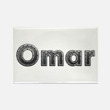 Omar Metal Rectangle Magnet