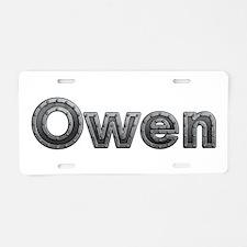 Owen Metal Aluminum License Plate