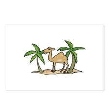 Cute Camel and Palm Trees Design Postcards (Packag