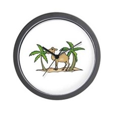 Cute Camel and Palm Trees Design Wall Clock