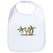 Cute Camel and Palm Trees Design Bib