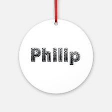 Philip Metal Round Ornament