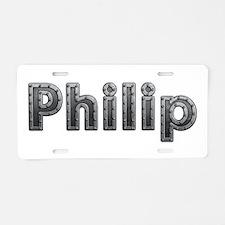 Philip Metal Aluminum License Plate