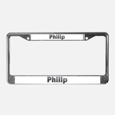 Philip Metal License Plate Frame