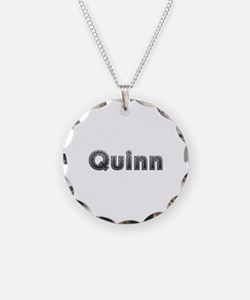 Quinn Metal Necklace Circle Charm