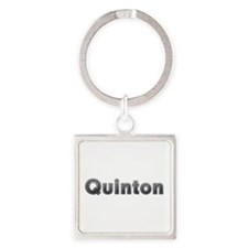 Quinton Metal Square Keychain