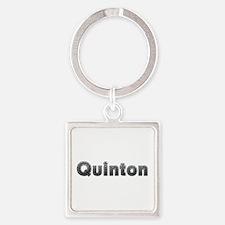 Quinton Metal Square Keychain