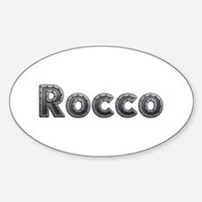 Rocco Metal Oval Decal