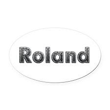 Roland Metal Oval Car Magnet