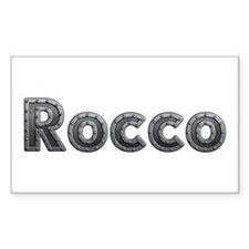 Rocco Metal Rectangle Decal