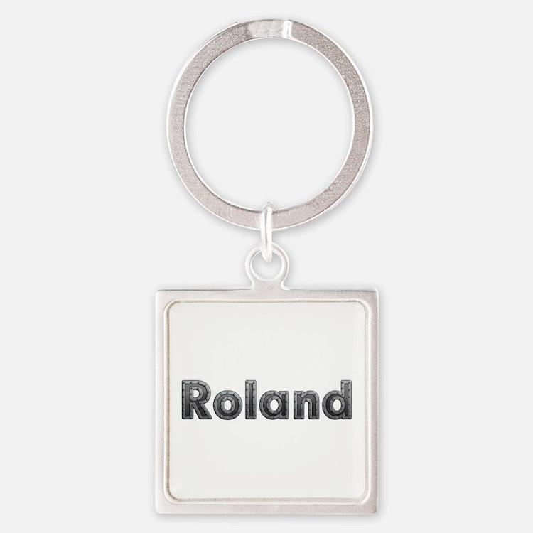 Roland Metal Square Keychain