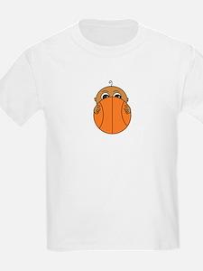 Baby Peeking Basketball (Dark Skin) T-Shirt
