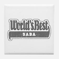 WB Grandpa [Hebrew] Tile Coaster