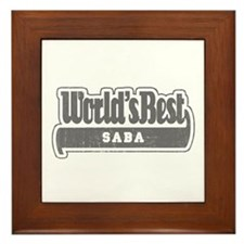 WB Grandpa [Hebrew] Framed Tile