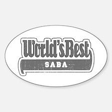 WB Grandpa [Hebrew] Oval Decal