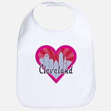 Cleveland Skyline Sunburst Heart Bib