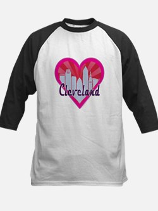 Cleveland Skyline Sunburst Heart Baseball Jersey
