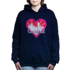 Cleveland Skyline Sunburst Heart Hooded Sweatshirt