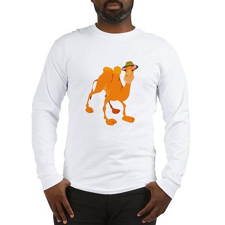 Funny Camel Wearing Hat Long Sleeve T-Shirt
