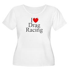 """I Love (Heart) Drag Racing"" T-Shirt"