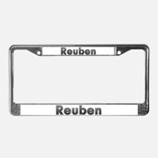 Reuben Metal License Plate Frame