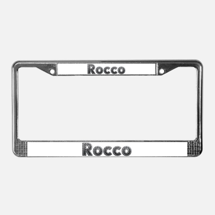 Rocco Metal License Plate Frame