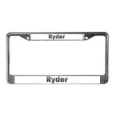 Ryder Metal License Plate Frame