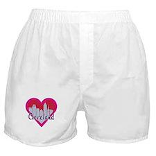 Cleveland Skyline Heart Boxer Shorts