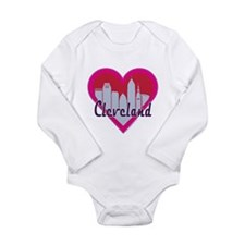 Cleveland Skyline Heart Body Suit