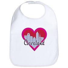 Cleveland Skyline Heart Bib