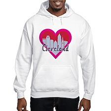 Cleveland Skyline Heart Hoodie