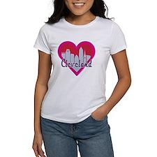Cleveland Skyline Heart T-Shirt