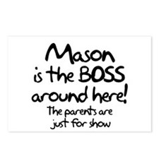 Mason is the Boss Postcards (Package of 8)