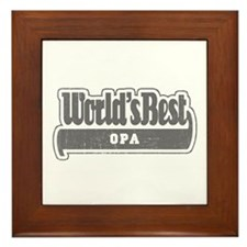 WB Grandpa [German] Framed Tile